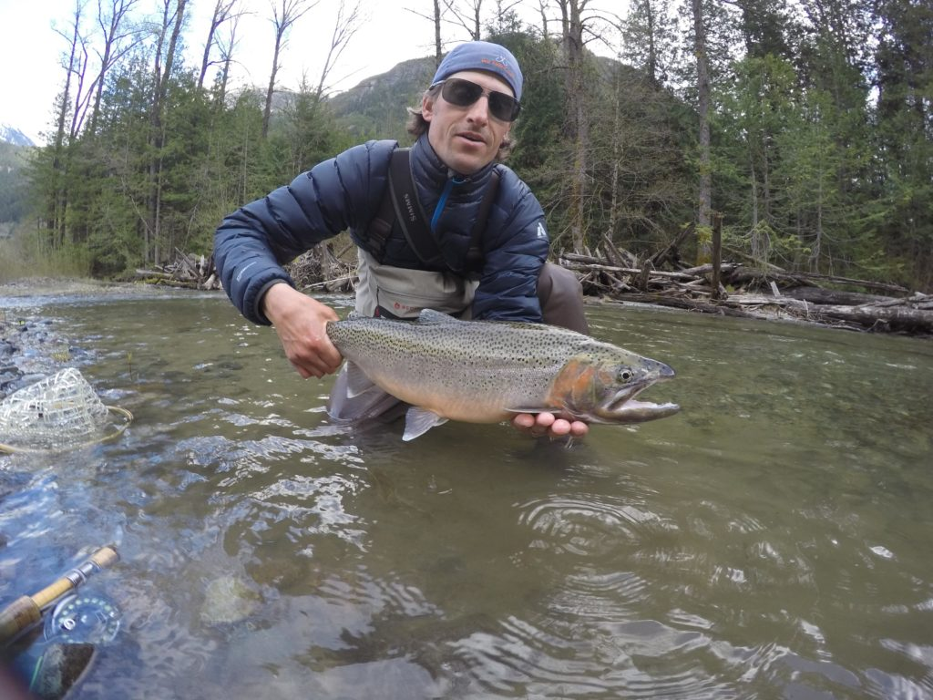 Fly fishing for Coastal Cutthroat Trout in BC