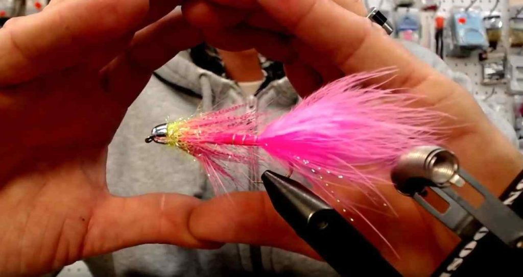 Friday Night Flies - Moto Minnow Steelhead Variant with a hot spot