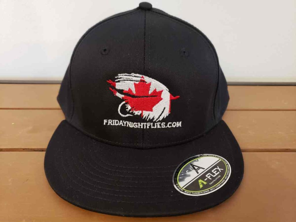 Flat brim fly fishing hat