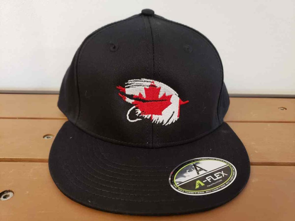 flat brim fitted fishing hat