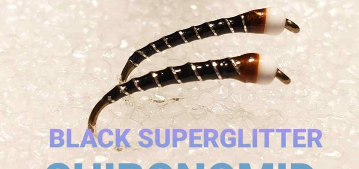Black Superglitter Chironomid